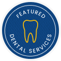 Featured dental services stamp